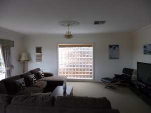 Large lounge room conversion into 2 bedrooms